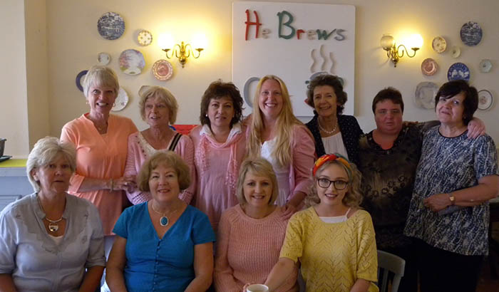 Laurie, Rita, Elfie, Connie, Miriam, Bridie and Lynne. Front L-R: Maureen, Elma, Mary and Ali