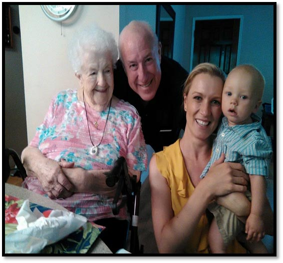Phoenix, Arizona: Four generations … Helen, Tip, Trinity & Everest.